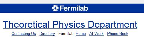 fermilab theory
