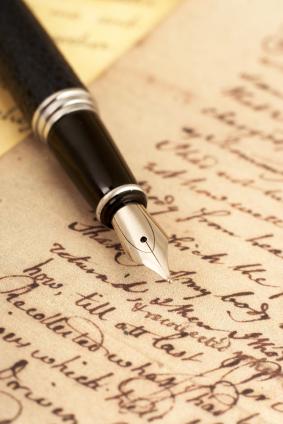 handwriting ink pen